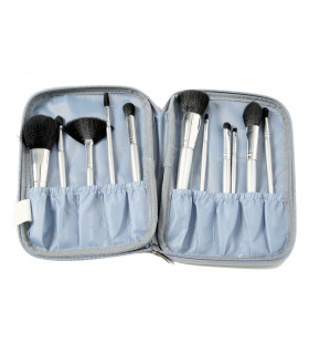 Brush Kit With Silver Handles